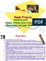 Paulo Freire philosophy on education