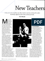 What New Teachers Really Need
