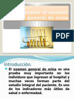 Procesar El Examen General de Orina (EGO