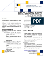 Inspection Et Controle de Qualite Ouvrages Routiers Et Municipaux Version 2011