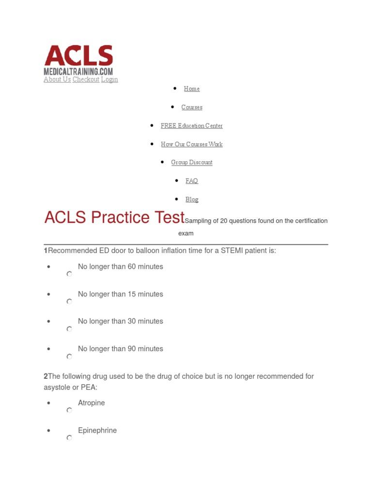 Acls Cardiopulmonary Resuscitation Cardiovascular System