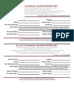 Form Registrasi KalibaruPermai-Net