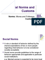 Norms and Customs