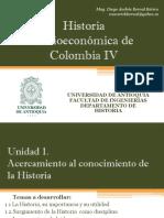 Cronograma de Sesiones y Exposiciones Historia Socio económica de Colombia IV