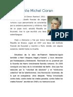 Biografia de Emile Michel Cioran