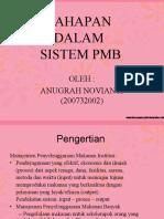Tahapan sistem PMB (Food service system)