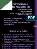 Sistem Pembiayaan Di Sektor Kesehatan (2)