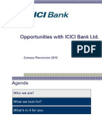 ICICI Bank Campus Placements 2016