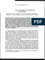 Advances in Remote Viewing Analysis