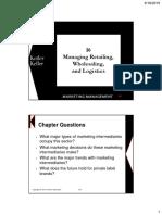 Managing Retailing, Wholesaling and Logistics
