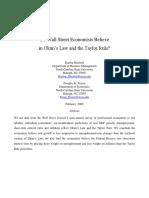 Do Wall Street Economists Believe in Okun's Law & Taylor's Rule