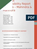 Business Responsibility Report Analysis – Mahindra & Mahindra
