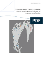 Density of marine macroinvertebrates as indicator of environmental status