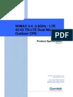 Gemtek LTE WiMAX Dual Mode CPE