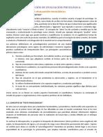 Tema 1 - Evaluación psicologica UNED
