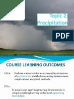 Topic 2 - Precipitation