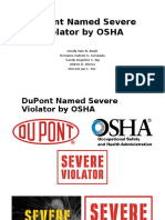 Ethics Report - DuPont Named Severe Violator by OSHA