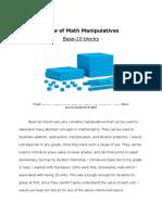 Review of Math Manipulatives - Summative