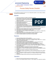 Process Engineers Checklist HAZOP