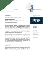 Rektorat Evaluierungskommission Erlaeuterung Ruecktritt