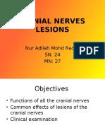 Cranial Nerves Lesions