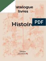 Catalogue Ligaran livres Histoire