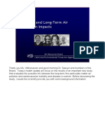 Women and Long-Term Air Pollution Impacts