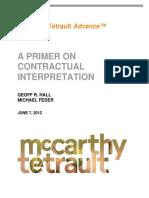 A Primer on Contractual Interpretation 2012 Jun 07