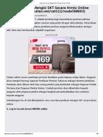 Nota Cara-Cara Mengisi SKT Secara Hrmis Online