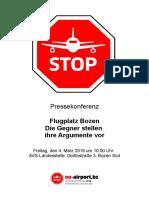 """03.04.2016 Pressemappe PK """"Nein zum Flughafen Bozen"""""""