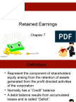 ACC2 Chap7 Retained Earnings