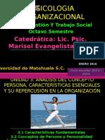 Unidad 3 Análisis Del Concepto Persona, Características Escenciales y Su Repercusión en La Organización