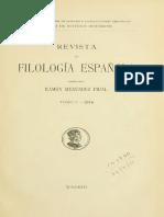Elena y María, Menendez Pidal, Revista de Filología 1914