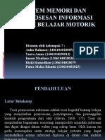 Sistem Memori Dan Pemrosesan Informasi Dalam Belajar Motorik