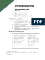 1. Investigación - El Proceso de Investigación Alumno