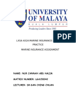 Marine Insurance Assignment