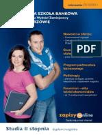 Informator 2010 - Studia II stopnia - Wyższa Szkoła Bankowa Poznaniu Wydział Zamiejscowy w Chorzowie