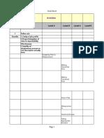 HR Goal Sheet