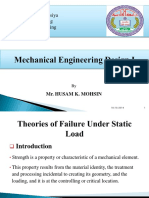 Theories of Failure Under Static Load