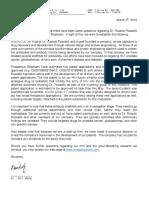 Letter From Prosperous Biopharm CEO