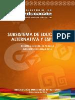 Normas Generales - Alternativa 2016