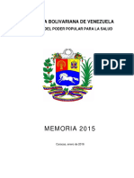 Memoria del Ministerio de Salud 2015