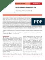 1.Von Willebrand Factor Proteolysis by ADAMTS13