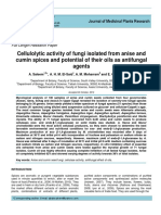 Cellulolytic activity of fungi isolated from anise and cumin spices and potential of their oils as antifungal agents