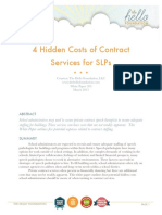 4 Hidden Costs of Contract Services for SLPs