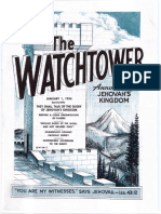 The Watchtower - 1954 issues