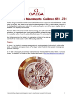 Omega 550 - 700 Calibers Overview