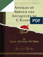 Annales Du Service Des Antiquites de LEgypte 1200021213