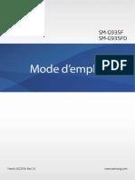 Samsung Galaxy S7 Edge Manual SM-G935, Marshmallow, French