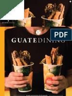 Colaboración en la revista Guatedining - Edición 29 - Febrero 2016
